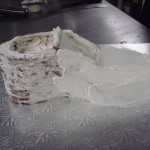 First layer of buttercream