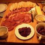 Charcuterie, local cheese, olives, mustards and fig compote
