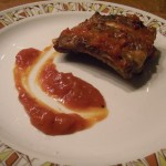 BBQ ribs with home made sauce
