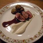 Lamb loin, sunchokes, sunchoke puree and an amazing lamb demi