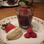Peanut butter whipped cream with home made chocolate mousse
