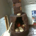 Wood burning bread over