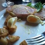 Hardboiled poached egge