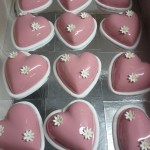Individual Valentines Day cakes