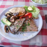 Tuna steaks, Split - freshly caught in their freezer