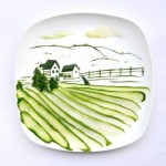 """cucumber landscape. Made from one single cucumber"""