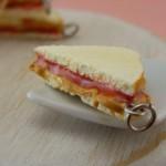 Peanut Butter Jelly Sandwich pendant