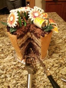 Flower pot cake (3)