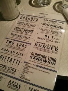 Whippoorwill brunch menu