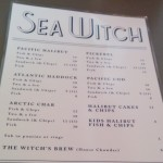 Sea Witch Menu